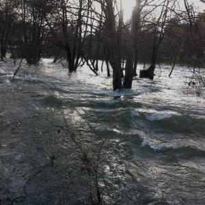 Rio Jerte desbordado